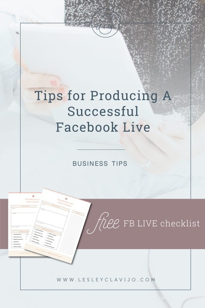 Facebook Live Checklist Worksheet and Tips